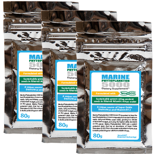 TetraSOD® - 80g Marine Phytoplankton 5000 Powder - Buy 3 Bags and SAVE!