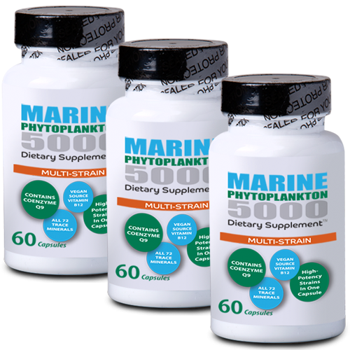 Multi-Strain Marine Phytoplankton - Buy 3 Bottles & SAVE!